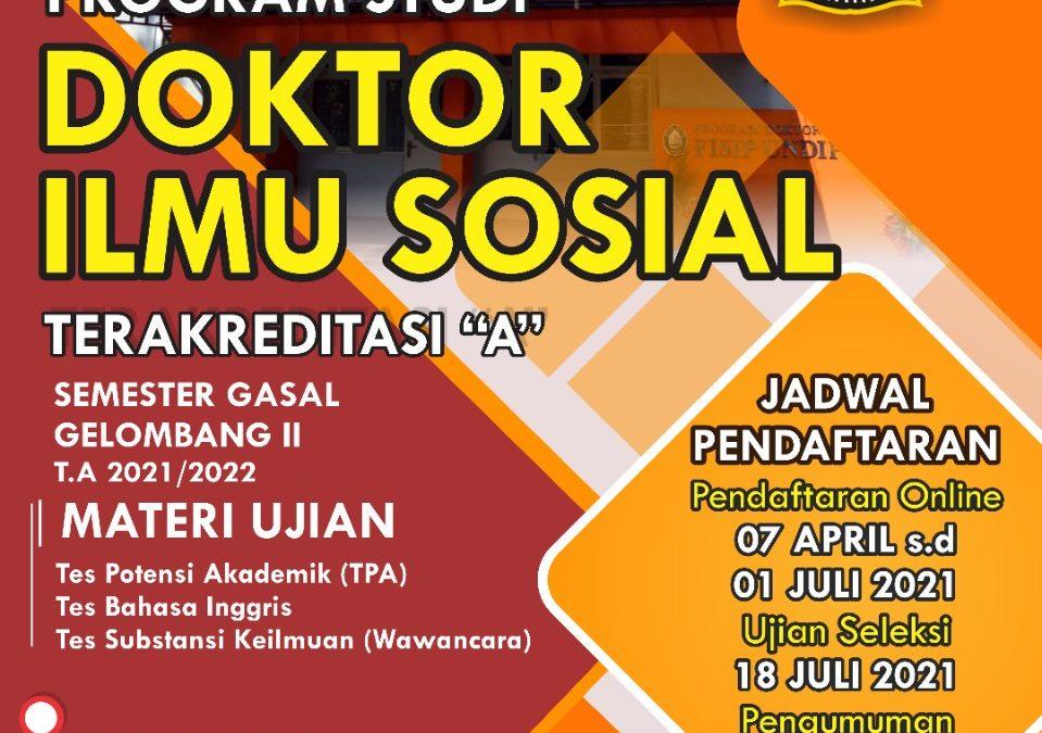 Open Registration for the 2021/2022 Doctoral Program in Social Science Odd Semester Batch II